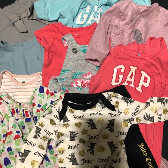 bf2134ee5cf3a Designer Baby girl clothes Lot 0-3 months